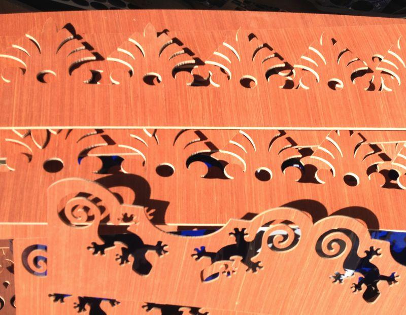 Lambrequin style colonial pour bord de toit dune maison à  ~ Lambrequin Bois